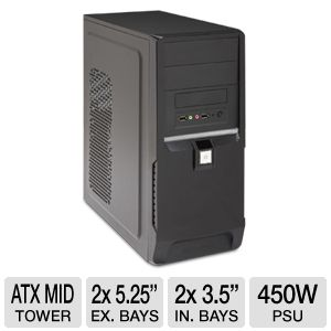 DiabloTek Elite 450W PSU ATX Mid Tower Case