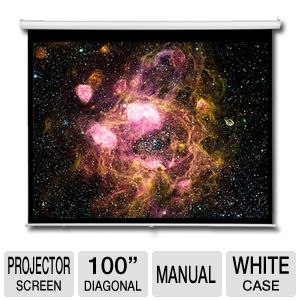 "AccuScreen 100"" Manual Projector Screen"
