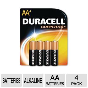 Duracell CopperTop 4-Pack AA Batteries