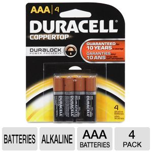 Duracell CopperTop 4-Pack AAA Batteries