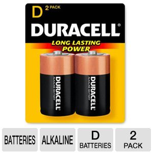 Duracell CopperTop 2-Pack D Batteries