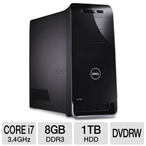 Dell XPS Core i7, 8GB, 2x500GB HDD, Desktop