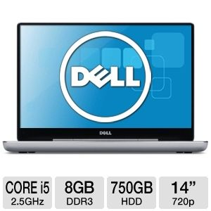 "Dell XPS 14"" Core i5 750GB HDD Notebook"