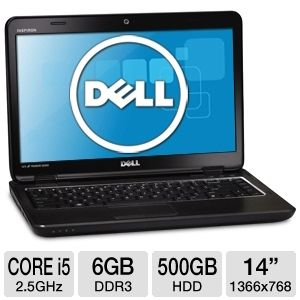 "Dell Inspiron 14R 14"" Core i5 6GB 500GB HDD NB"