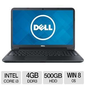 "Dell Inspiron 15.6"" Core i3 500GB HDD Notebook"