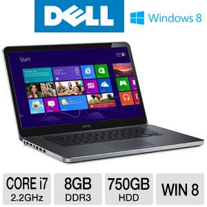 "Dell XPS 15.6"" Core i7 750GB HDD Notebook"