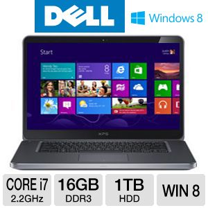 "Dell XPS 15.6"" Core i7 1TB HDD Notebook"