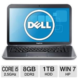 "Dell Inspiron 15R 15.6"" Core i5 1TB HDD Notebook"