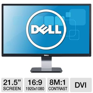 "DELL 16:9 Class Widescreen LED 21.5"" Monitor"
