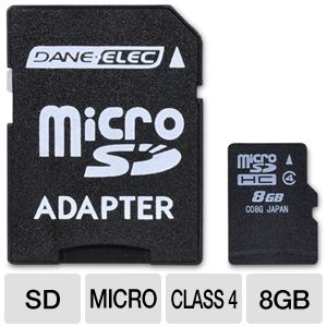 Dane-Elec 8GB SDHC Flash Card