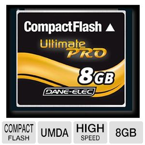 Dane-Elec 8GB High Speed UDMA Compact Flash Card