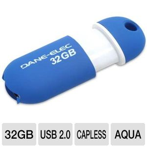 Dane-Elec 32GB Capless USB 2.0 Pen Drive