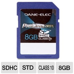 Dane-Elec 8GB High Speed SDHC Flash Card