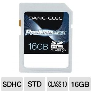 Dane-Elec 16GB High Speed SDHC Flash Card