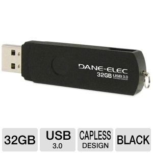 Dane-Elec DA-U332GSP-R 32GB USB Flash Drive