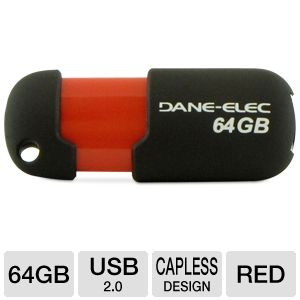 Dane Elec 64GB USB 2.0 Flash Drive
