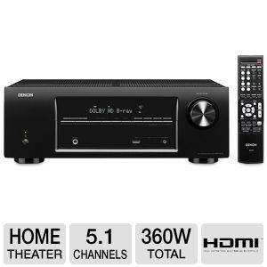 Denon 3D Ready 5.1 Channel Home Theater Receiver