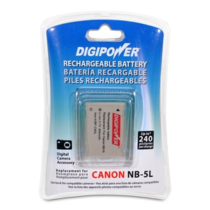 Digipower BP-CN5L Li-Ion Battery for Canon NB-5L