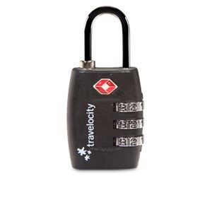 3-DIAL TSA COMBINATION LOCK (BLACK)
