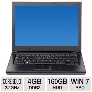 "Dell Latitude E6400 14.1"" Core 2 Duo 160GB Laptop"
