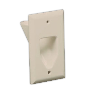 DATACOMM 45-0001-IV 1-Gang Recessed Plate