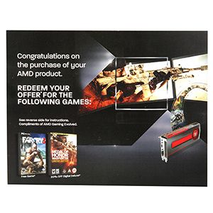 AMD FAR CRY 3/20% OFF MEDAL OF HONOR GAME COUPON