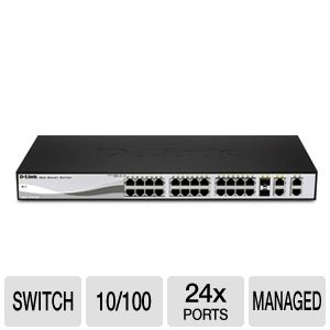 D-Link DES-1210-28 Web Smart 24 Port Switch