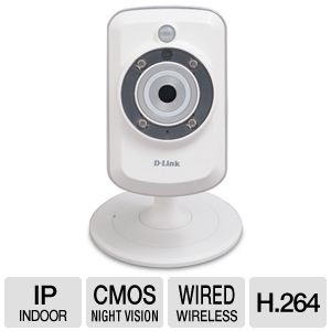 D-Link 30fps WiFi Motion Detect Day/Nite IP Cam