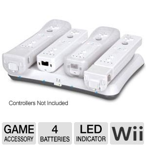 DreamGear 4 Way Wii Charging Power Base