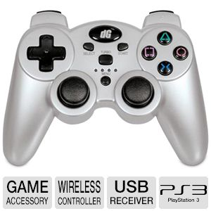 Dreamgear Radium Wireless Silver PS3 Controller