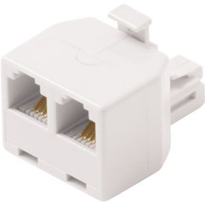 MODULAR 6C TEL T ADAPTER WHITE