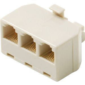 MODULAR 6C TRIPLEX ADPT IVORY