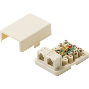 6C TEL SURFACE JACK IVORY