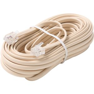 25FT 6-WIRE MOD TEL CORD IVORY