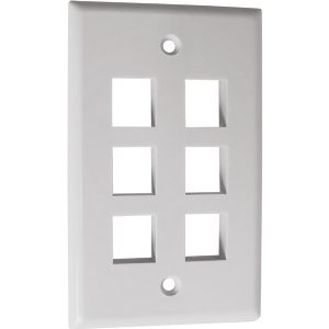 6 CAVITY WHITE KEYSTONE PLATE