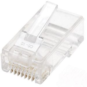 100PK RJ45 SOLID WIRE MODULAR