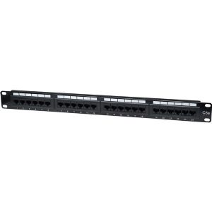 24PORT CAT5E BLACK PATCH PANEL