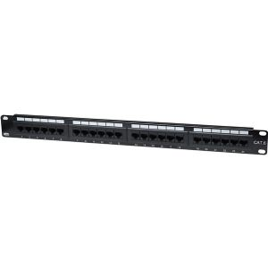24PORT CAT6 BLACK PATCH PANEL