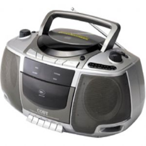 COBY CD BOOMBOX W/ AM-FM/CASS