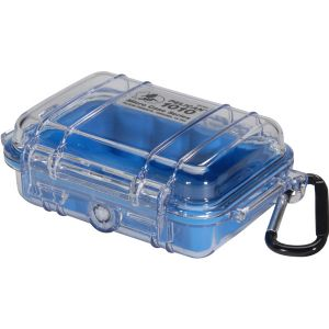 1010 MICRO CASE BLUE CLEAR LID