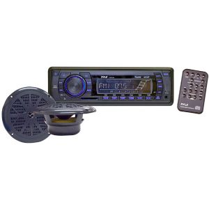 MARINE SINGLE-DIN MECHLESS RECEIVER WITH