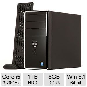 DELL Core i5, 8GB DDR3, 1TB HDD, Windows 8.1 PC