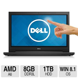 Dell AMD A6, 8GB, 1TB, Windows 8.1 Touch Laptop