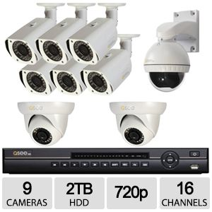 Q-See Heritage HD Analog 16 Ch 9 Cam 720p DVR