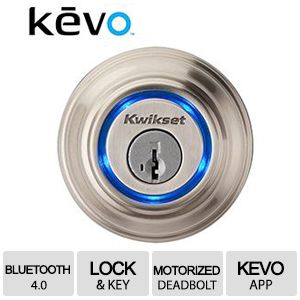 Kevo Bluetooth Smart Door Lock Satin Nickel