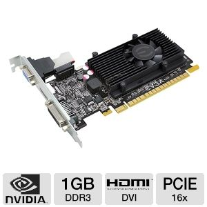 EVGA GeForce GT 520 1GB DDR3 PCIe 2.0 Video Card