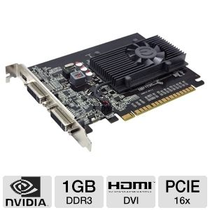 EVGA GeForce GT 520 1GB DDR3 PCIe Dual DVI w/HDMI