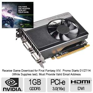 EVGA GeForce GTX 650 1GB GDDR5 Video Card