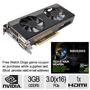 EVGA GeForce GTX 660 FTW S2 3GB GDDR5 Video Card