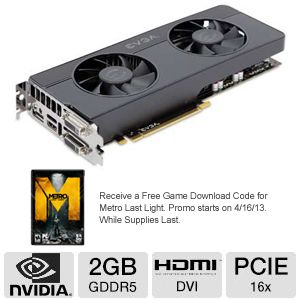 EVGA Geforce GTX 660 Ti FTW Signature2 Video Card